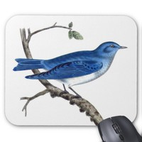 Vintage Blue Bird Branch Mousepad