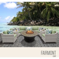 Fairmont 8 Piece Outdoor Wicker Patio Furniture Set 08f