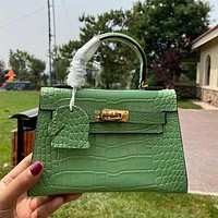 Hermes Crocodile Kelly Bag Handbag Crossbody Bag