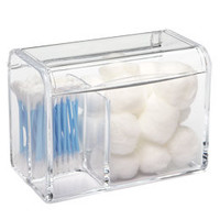Tall 3-Section Acrylic Hinged-Lid Box