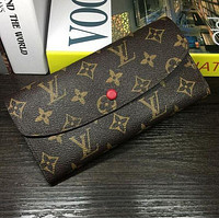 Louis Vuitton LV Buckle and zipper Women Leather Purse Wallet H-MYJSY-BB