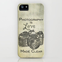 Photography is Love Made Clear - Canon iPhone Case by Mick Luvin Photography