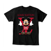 KUYOU Louis Vuitton Disney Mickey Mouse District Youth Shirt