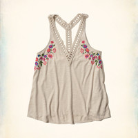 Embroidered Easy Tank