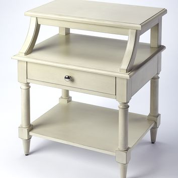 Talia White End Table