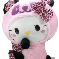 "BIG Hello Kitty Panda Plush Doll ~ 14"" Leopard Pink"