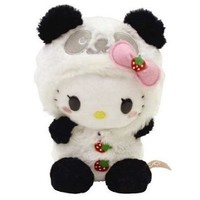 Sanrio Hello Kitty Panda with Motion Activated Sound Plush Doll