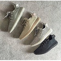 """Adidas"" Women Yeezy Boost Sneakers Running Sports Shoes Full color"