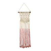 Macramé Small Dip Boho Decor in Pink Ombre
