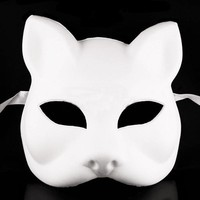 Lot 15 Fox Cat Unpainted Mask Form Women Lady Masquerade