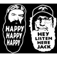 "Duck Dynasty Phil Robertson Uncle Si Decal 2 Pack Decal/Sticker 6"" White"