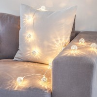 30LED Metal Fairy light with Silver iron ball Ambiance decoration lighting for wedding/ christmas Great for Party, Bedroom Decor