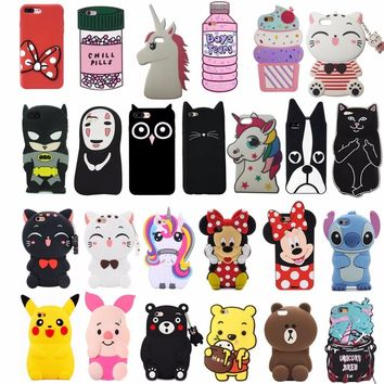 3D Cartoon Cute Animal Cat Soft Silicone Back Cover For iPhone 5 5s SE 5C 6 6s Plus X Xs 7 8 Plus Phone Cases Fundas Coque Capa