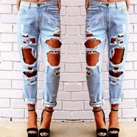 NEW WOMEN'S JEANS SKINNY PENCIL JEAN WOMAN TROUSERS