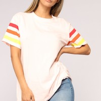 Rise And Shine Tee - Pink