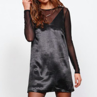 Rebel Heart Black Slip Dress