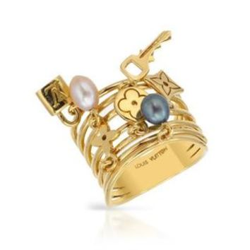 Pre-Owned Louis Vuitton Ring with 45 mm Freshwater Pearls 18k Yellow Gold