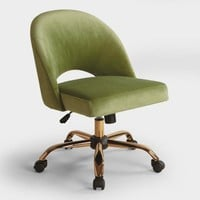Green Velvet Cosmo Upholstered Office Chair