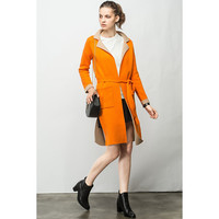 Color Block Knit Coat - FEW MODA