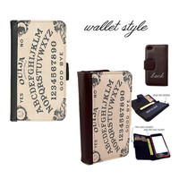 mystifying oracle ouija board - Smartphone case for iphone 4 4s 5 5s 5c 6 plus Galaxy S3 S4 S5 (plastic snap on, leather wallet)