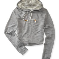 Aeropostale Womens Cropped Popover Hoodie