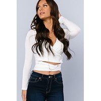 Jet Set Crop Top (Ivory)
