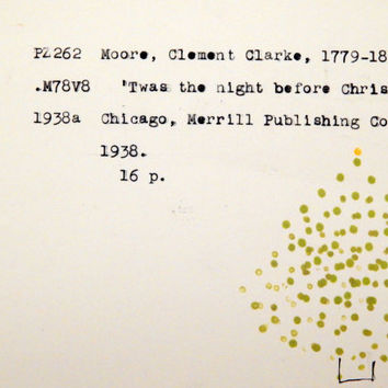 Non religious cards, library inspired Christmas card, book Christmas card, book lovers holiday card, literary holiday cards