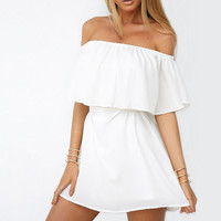 White Strapless Dress 9952