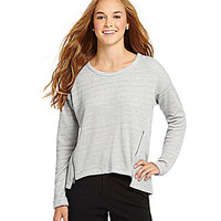 GB French Terry Top - Heather Grey