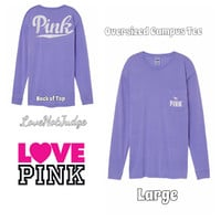 Oversized Campus Long Sleeve Tee Large