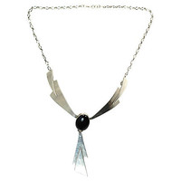 Navajo Sterling Silver Onyx Necklace Begay