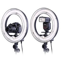 """Neewer® Camera Photo Video Ring Fluorescent Flash Light Kit, Includes(1)14""""Outer 10""""Inner 400W 5500K Lamp Ring Fluorescent Flash Light+(1)75""""/190cm Photography Light Stands"""