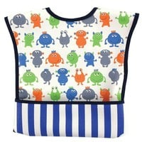 Luvable Friends Feeder Bib with Crumb Catcher Velcro Pocket | Affordable Infant Clothing