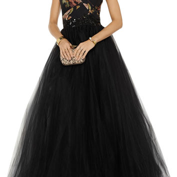 Notte by Marchesa Embellished tulle gown – 60% at THE OUTNET.COM