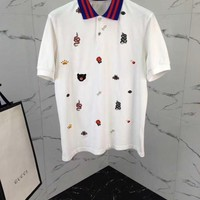 NEW 100% Authentic gucci 2018ss embroidery polo shirt  04