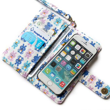 RABBIT IPHONE WALLET Women iPhone 6 Wallet iPhone 6 Plus Purse iPhone Sleeve iPhone Pouch Samsung Galaxy s4 Galaxy s5 Note 3 Note 4 iPhone