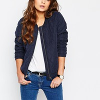 J.D.Y Quilted Bomber Jacket