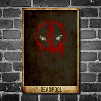 Deadpool minimalist poster movie print comic book poster print 11x17