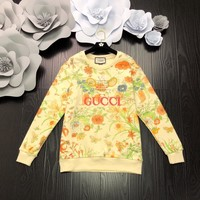 Top Gift Gucci Women Long Sleeve Knitted Cardigan Loose Sweater Outwear Jacket Coat Sweater