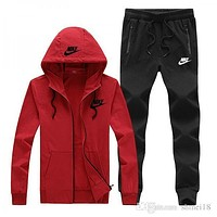 Nike Red and  Black Jogger and Jacket Sets