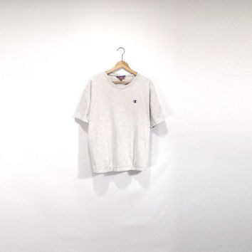 CHAMPION SHIRT // 90s // Large // Champion T-Shirt // Champion // Champion Shirt // 90s Champion // Champion T-Shirt // Heather Gray Shirt