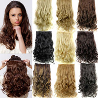 """5 Clip in Hair Extensions 23"""" 120g Long Curly Hair Extensions Cheap Synthetic Hair Piece  Multicolor Available"""