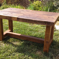 YOUR Custom Made Rustic Reclaimed Barn Wood Extendable Farmhouse Dining Table