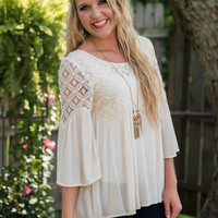 Victorian Days with Lace Top - Ivory