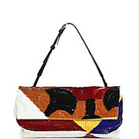 The Row - Small Multicolor Sequined Convertible Flap Bag - Saks Fifth Avenue Mobile