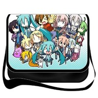 Heartybay Shoulder Bag with Japanese Anime Miku Vocaloid Miku Hatsune Removable/renewable/replaceable Cover
