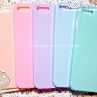 iPhone 5 Pastel Pink Cute Candy Color Hard Cover Plastic Case with Bow (28 x 20mm) : Minnie Mouse like Bow 5G