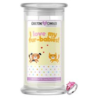 I Love My Fur-Babies! Jewelry Greeting Candles