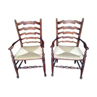 Pre-owned Ladder Back Armchairs - A Pair
