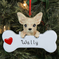 Engraved Chihuahua Ornament